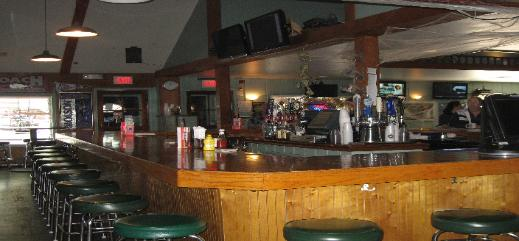 The Coach Sports Bar Webster New York bar taps stools