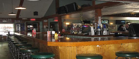 The Coach Sports Bar Webster New York bar tabs stools